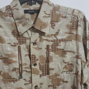 Sean John Camo style Classic Fit Shirt
